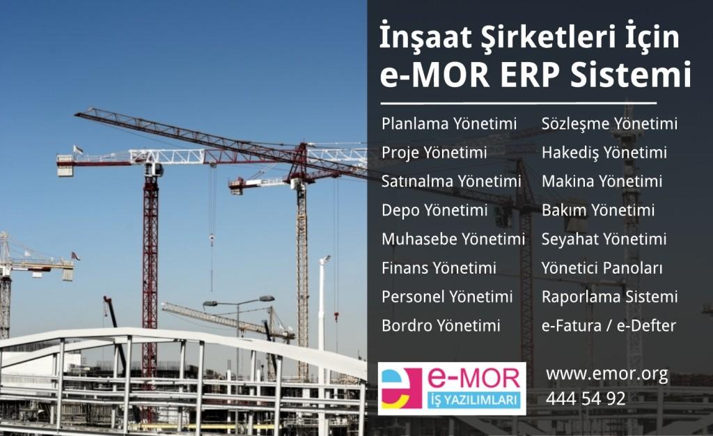 İnşaat Şirketleri İçin e-MOR ERP